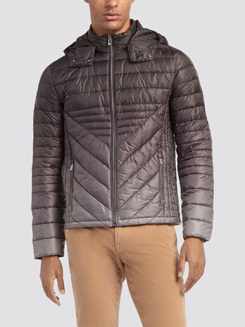 Regular fit down jacket in degrade nylon