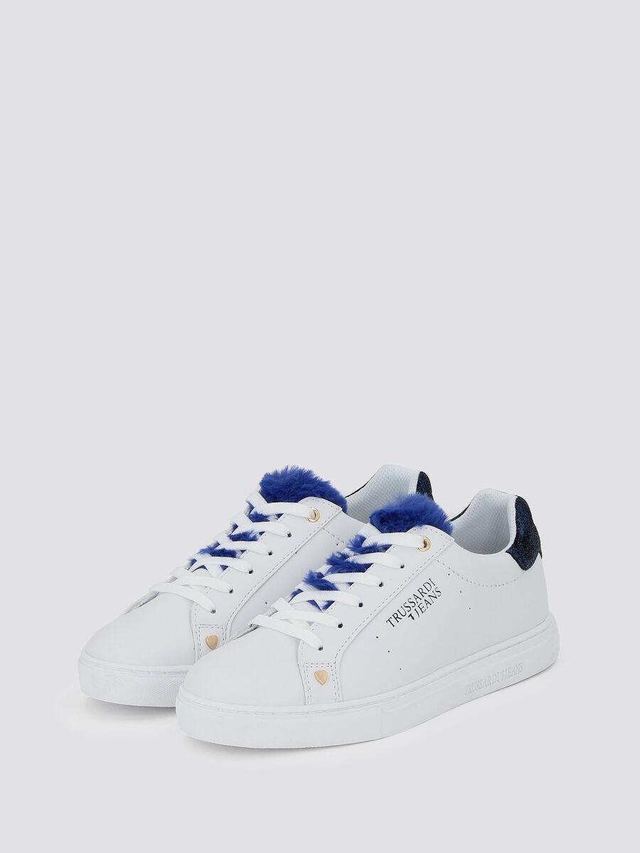 Sneakers con ecopelliccia