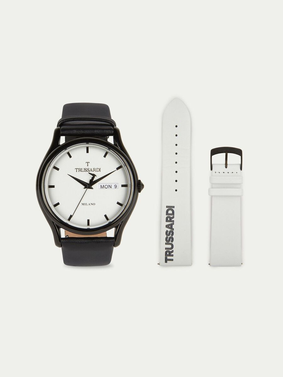 T-Light watch with double strap