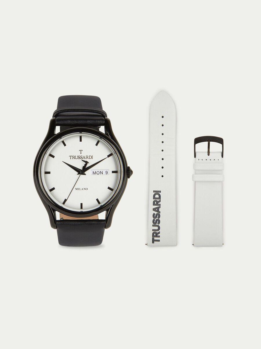 Armbanduhr T-Light mit doppeltem Armband