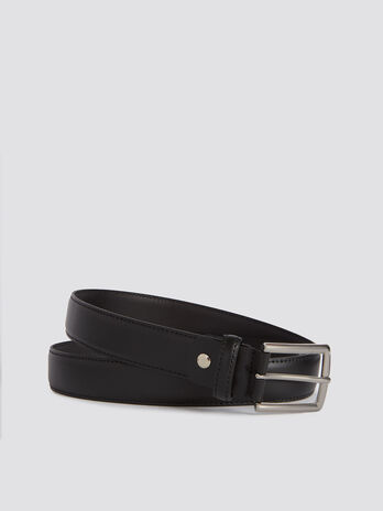 Monochrome leather Entry belt