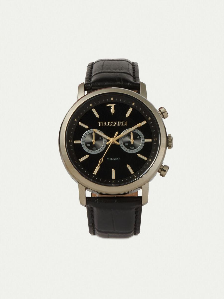 Armbanduhr T-Couple 43MM mit Lederarmband