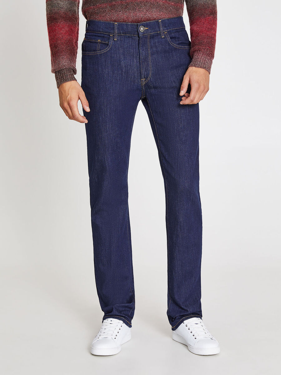 Stretch jeans with wide waist fit