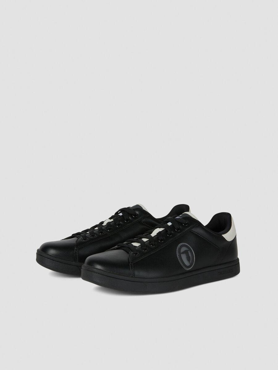 Sneakers en similicuir a logo