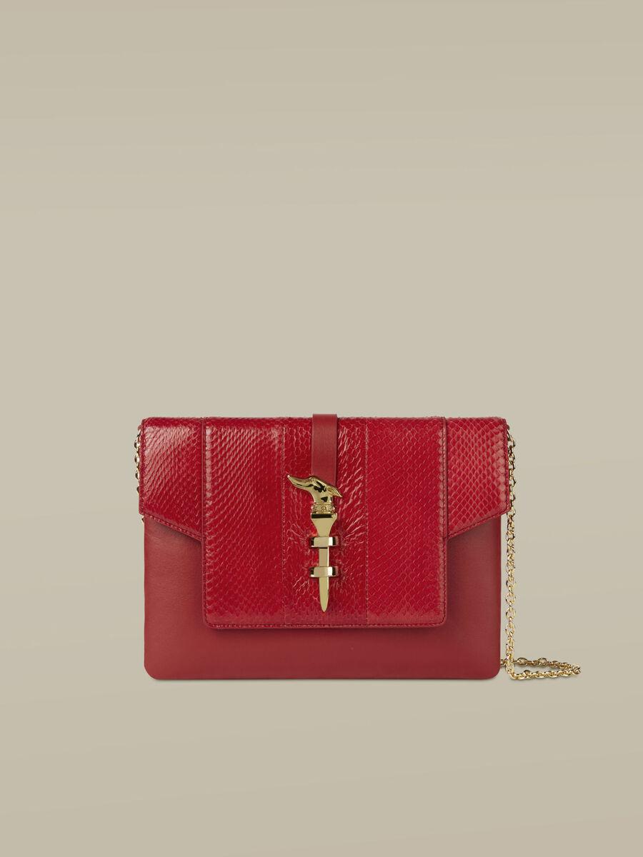 Medium Leila clutch in leather