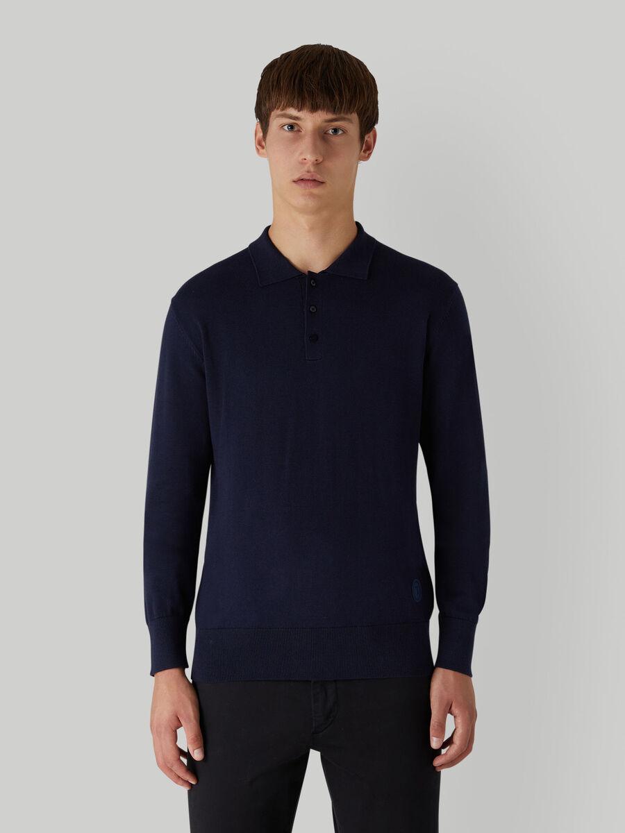 Polo coupe classique en coton et soie