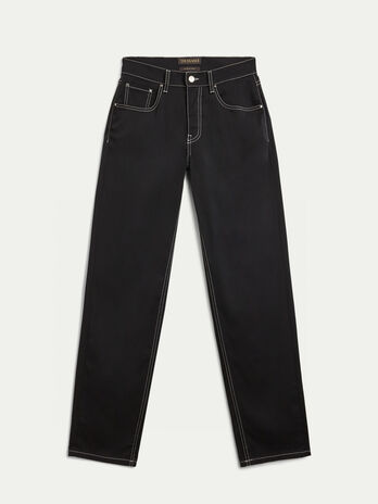 Cotton blend gabardine trousers