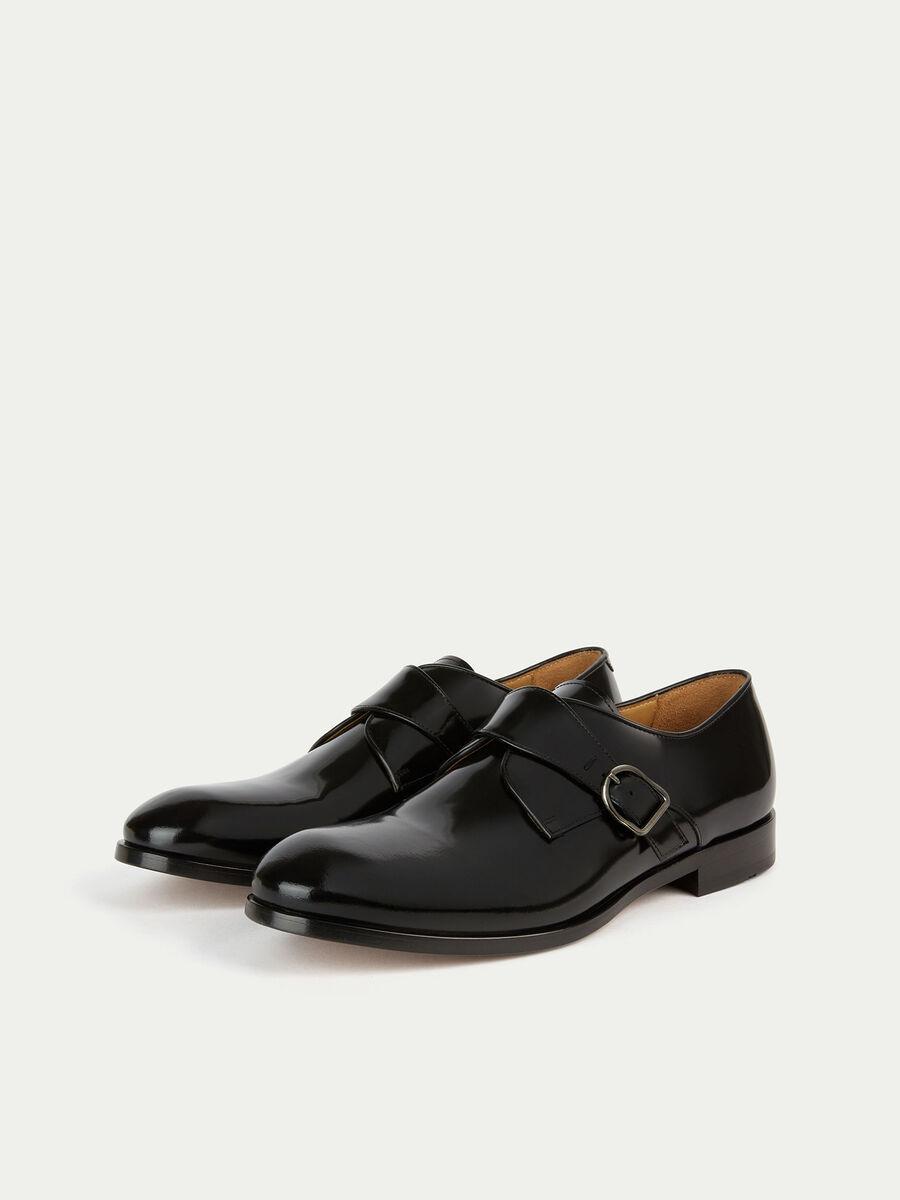 Oxford Schuhe aus einfarbigem Mattleder mit Schnalle