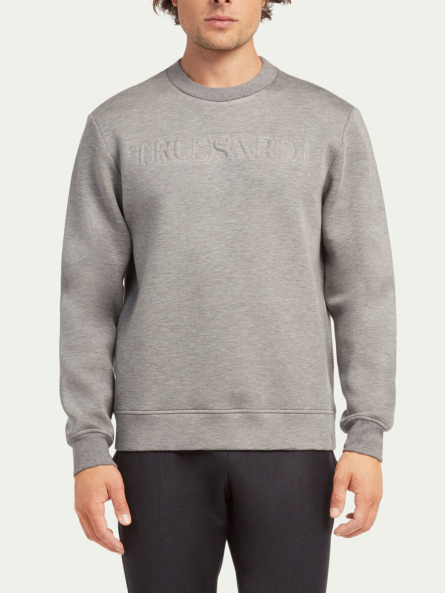 Regular fit scuba sweatshirt with lettering