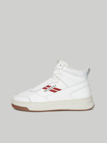 Leather mid-top Yury sneakers