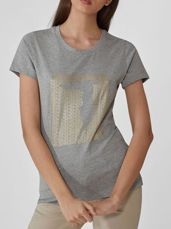 T-shirt coupe slim en coton a imprime lame