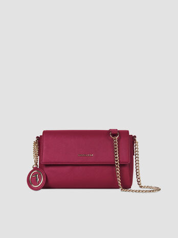 Small Mosca crossbody bag in faux saffiano leather