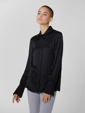 Viscose satin shirt