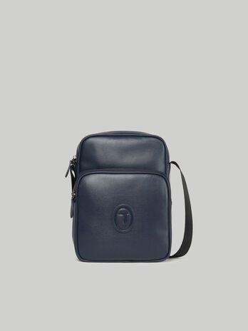Urban reporter bag in faux saffiano leather
