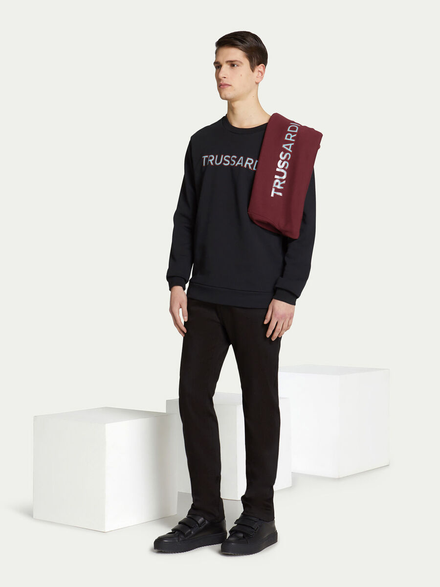 Regular Fit Sweatshirt aus Baumwolle mit Lettering