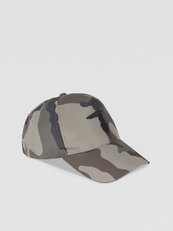 Camouflage fabric baseball cap with logo