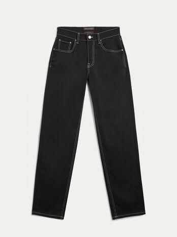 Cotton blend gabardine trousers