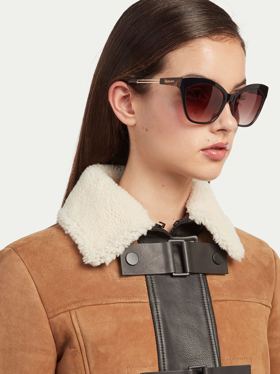 Sonnenbrille mit Buegeln in Schildpatt Optik