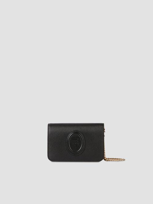Faux saffiano leather 1 clutch