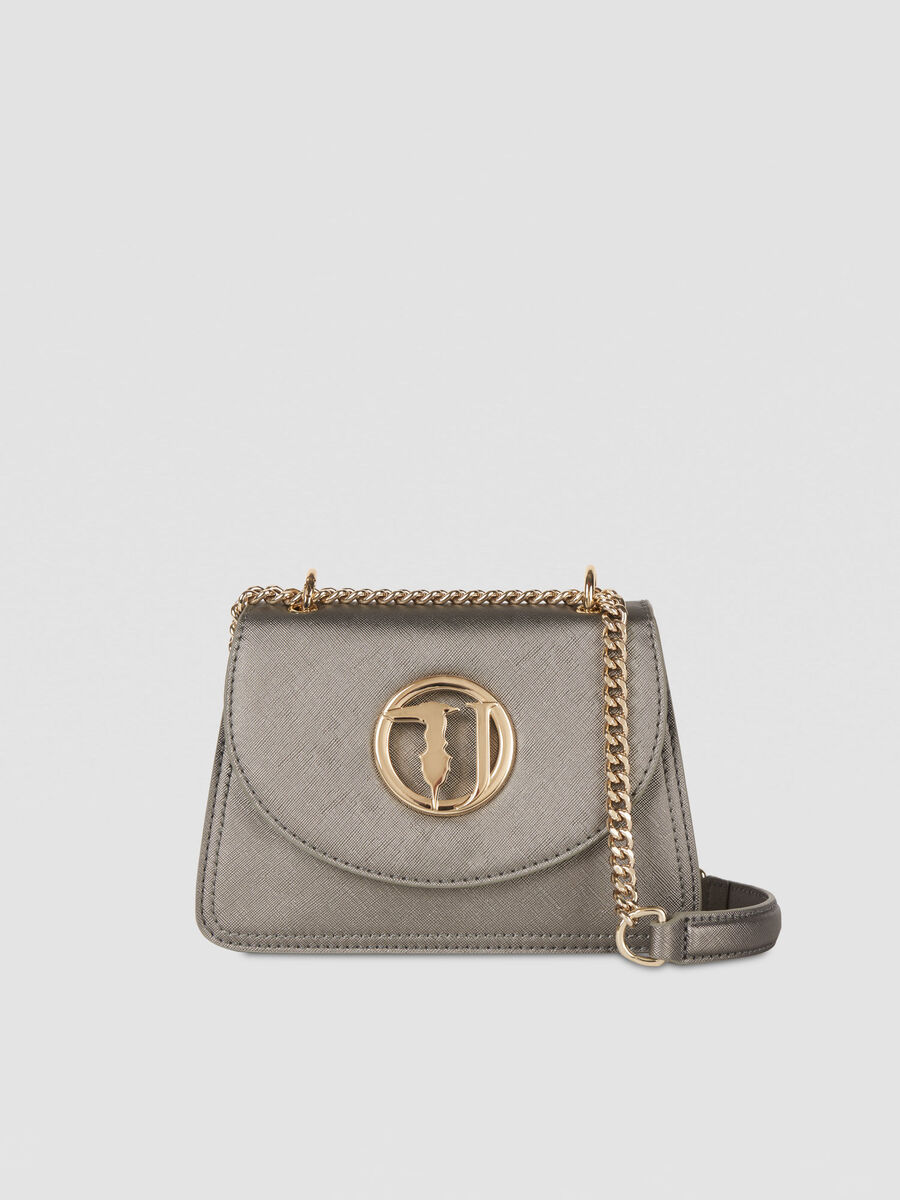 Small Sophie Cacciatora bag in metallic faux leather