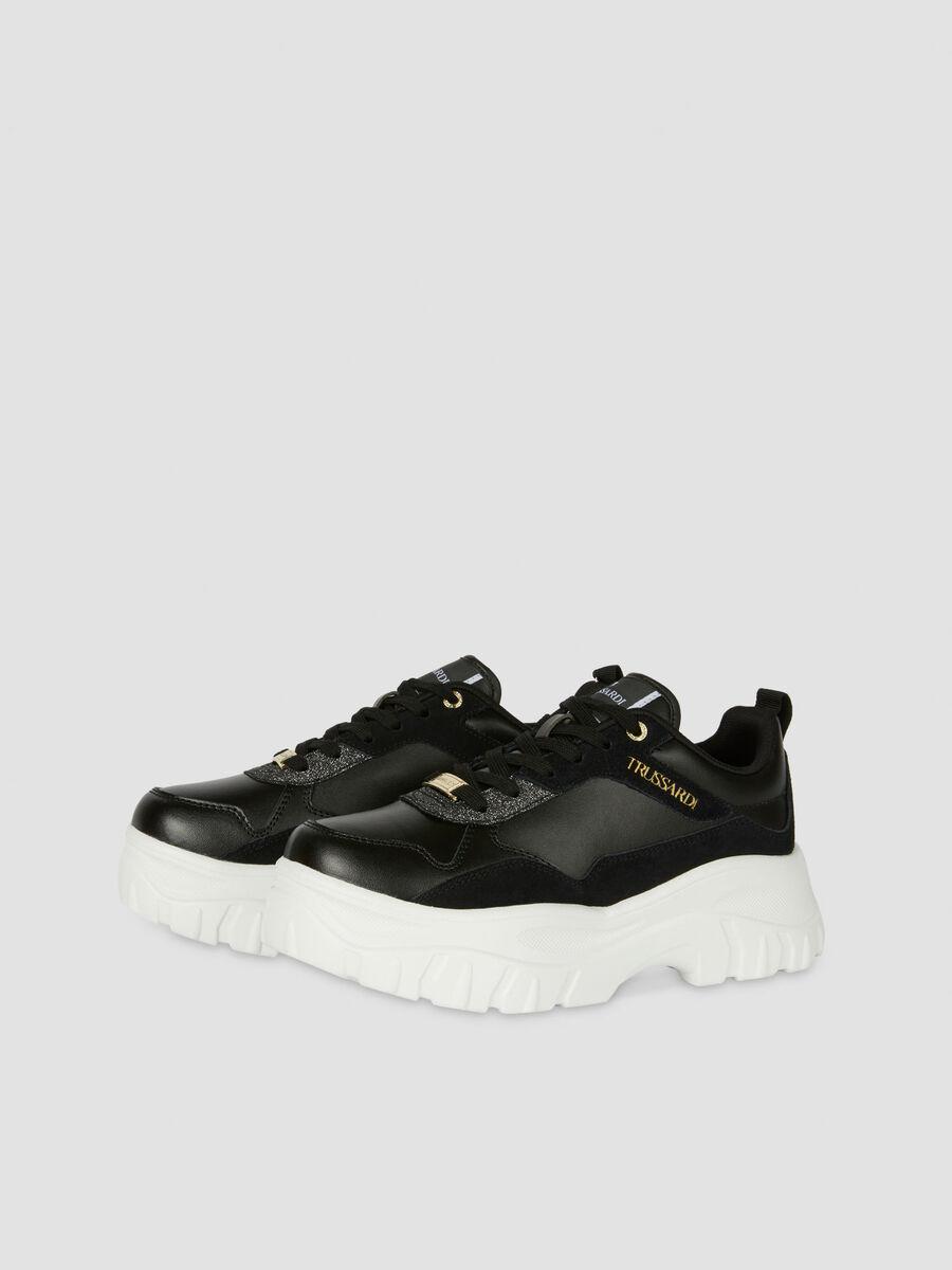 Sneakers Chorisia en daim et cuir