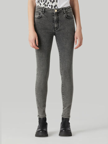 Jeans 206 super skinny in denim marbled