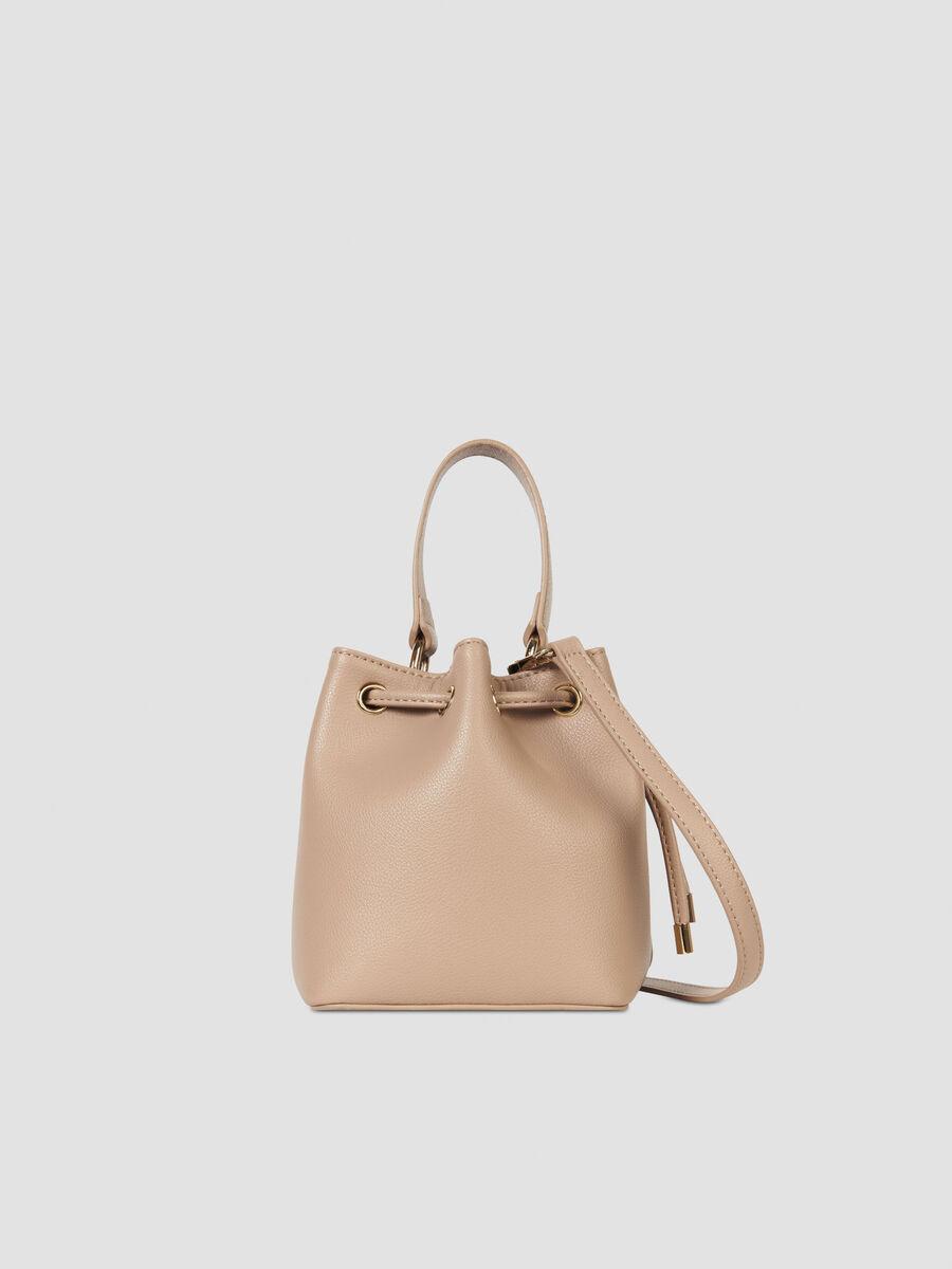 Small faux leather Belgrado bucket bag