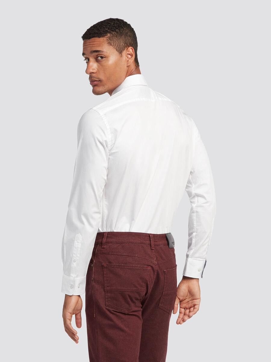 Stretch cotton twill shirt