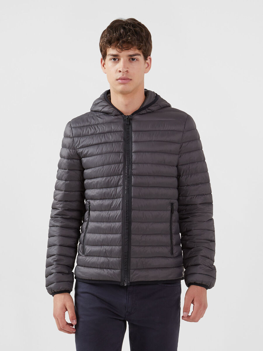 Regular fit light nylon down jacket