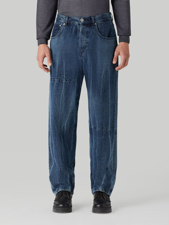 Crushed denim 80S jeans