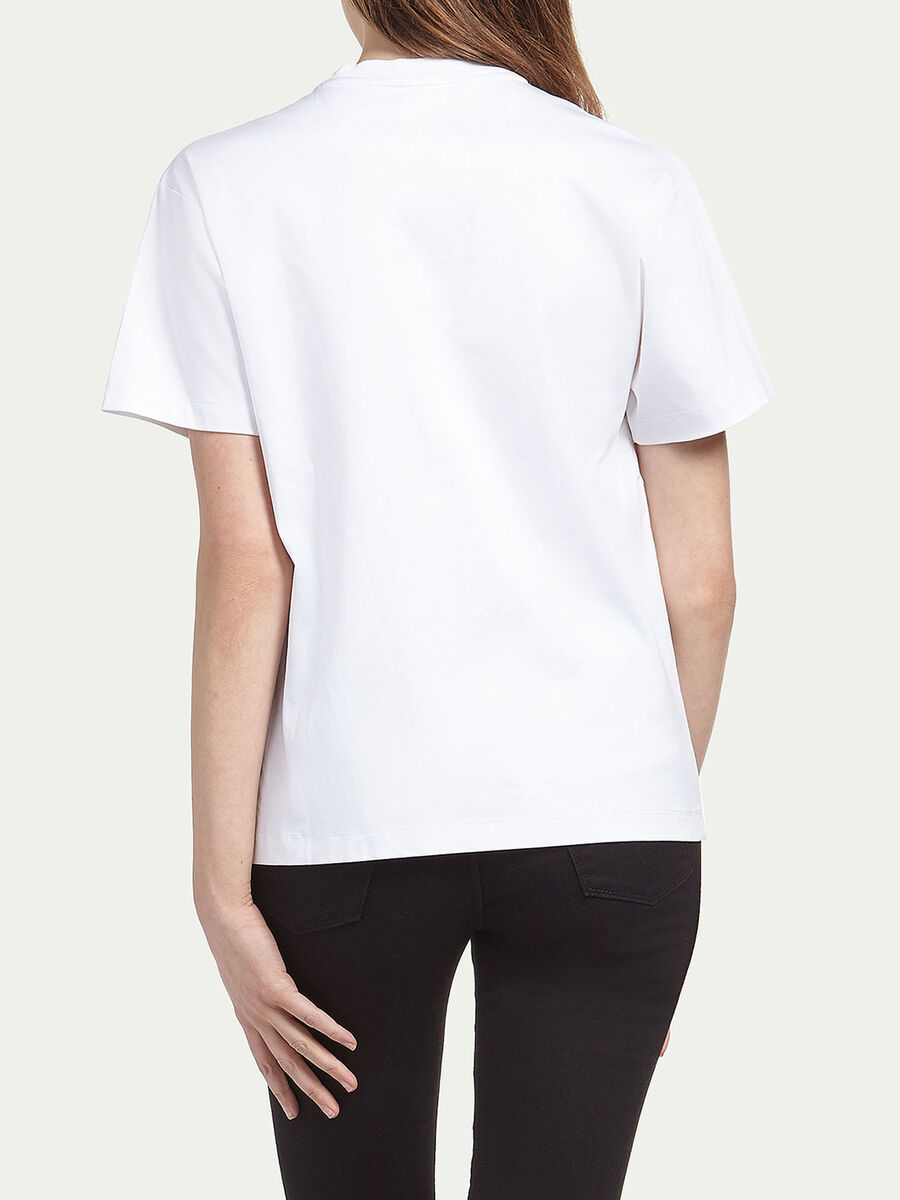 Printed cotton interlock T shirt