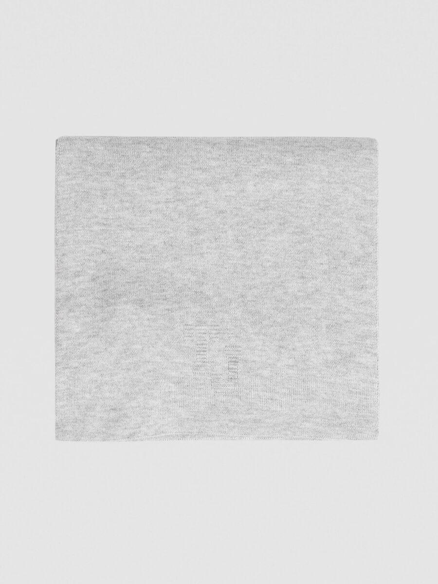 Wool blend 3D Portalogo scarf