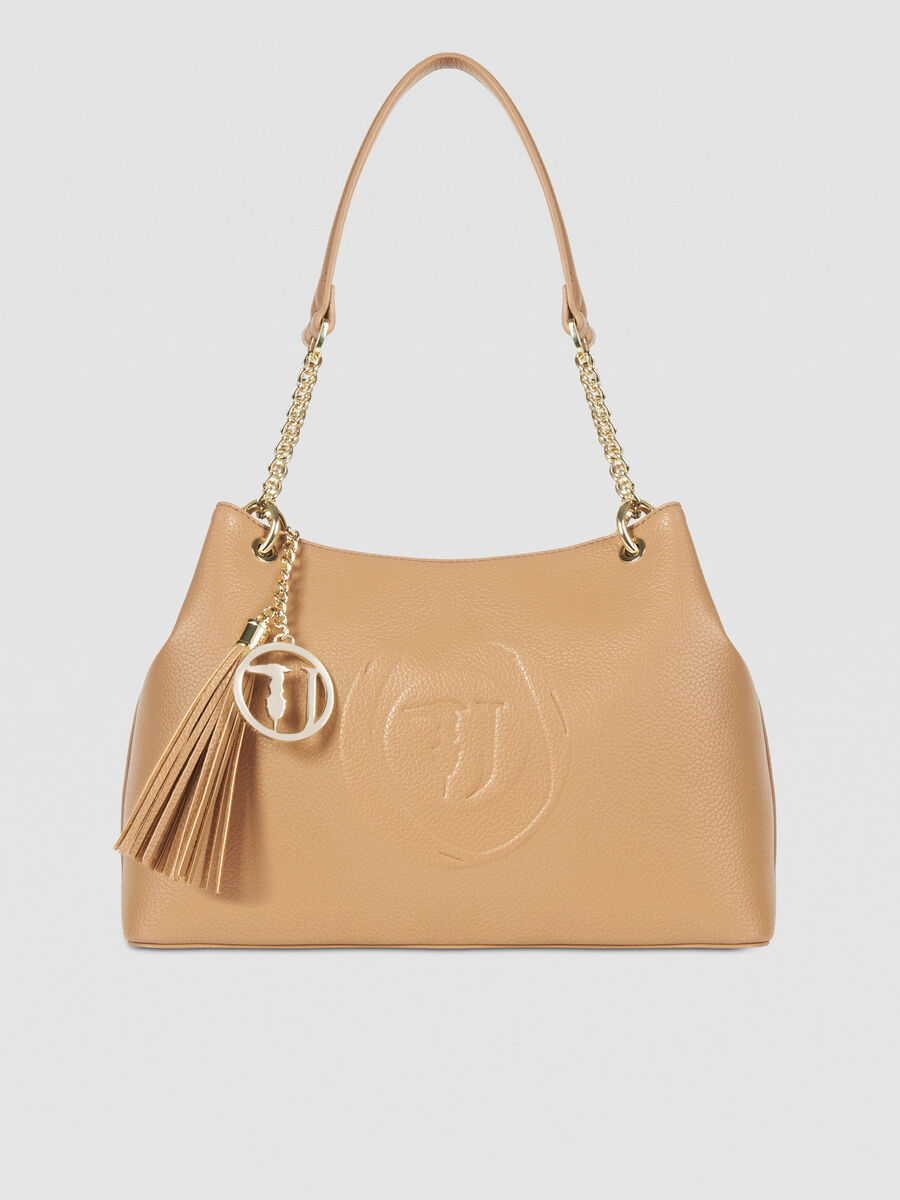 Medium Faith hobo bag in faux leather with logo