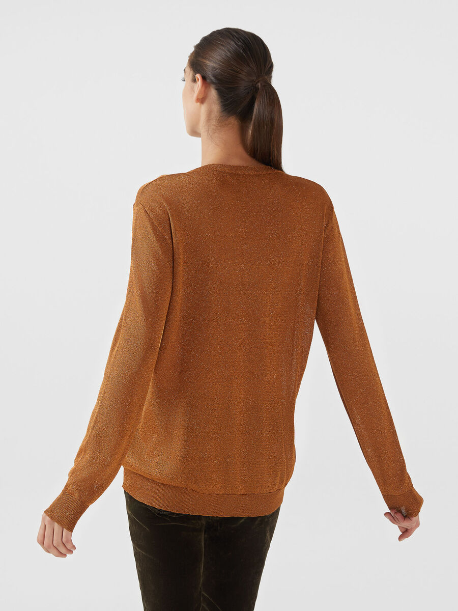 Regular fit lurex knit pullover