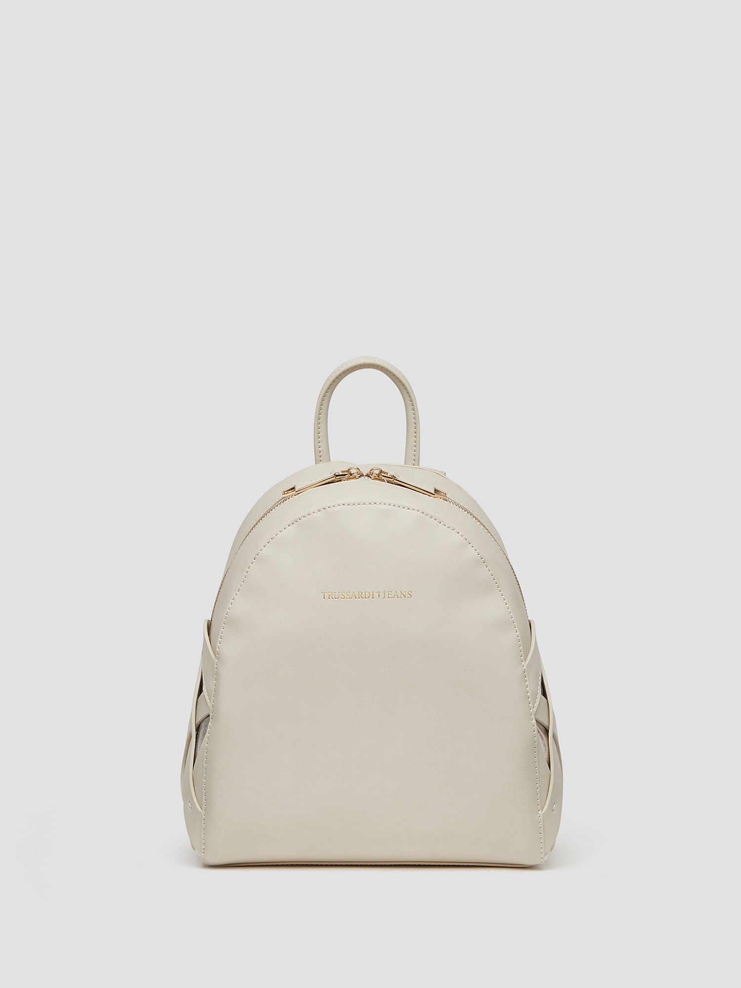 Dahlia rounded backpack with basket-weave detailing