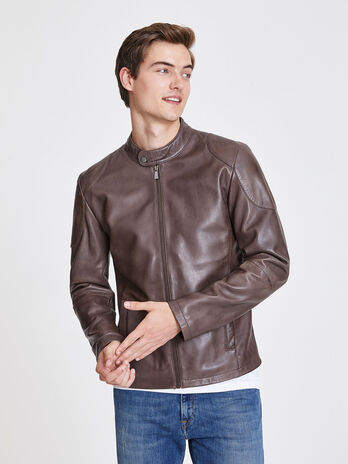 Men S Leather Jackets Trussardi Com