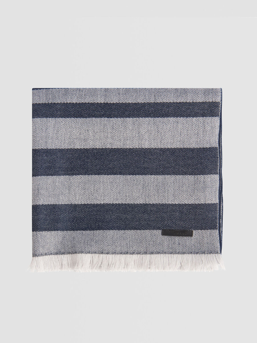 Striped wool blend pashmina
