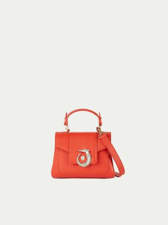 Mini Icon bag Lovy in pelle tinta unita con levriero bd9bbb39aa7