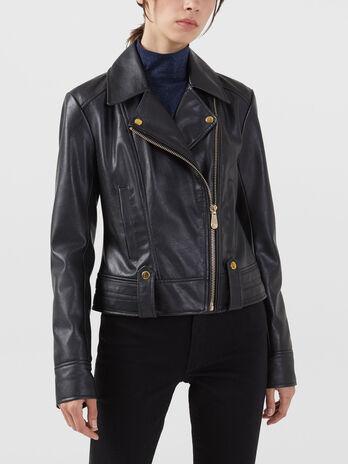 Motorcycle jacket in similpelle regular fit