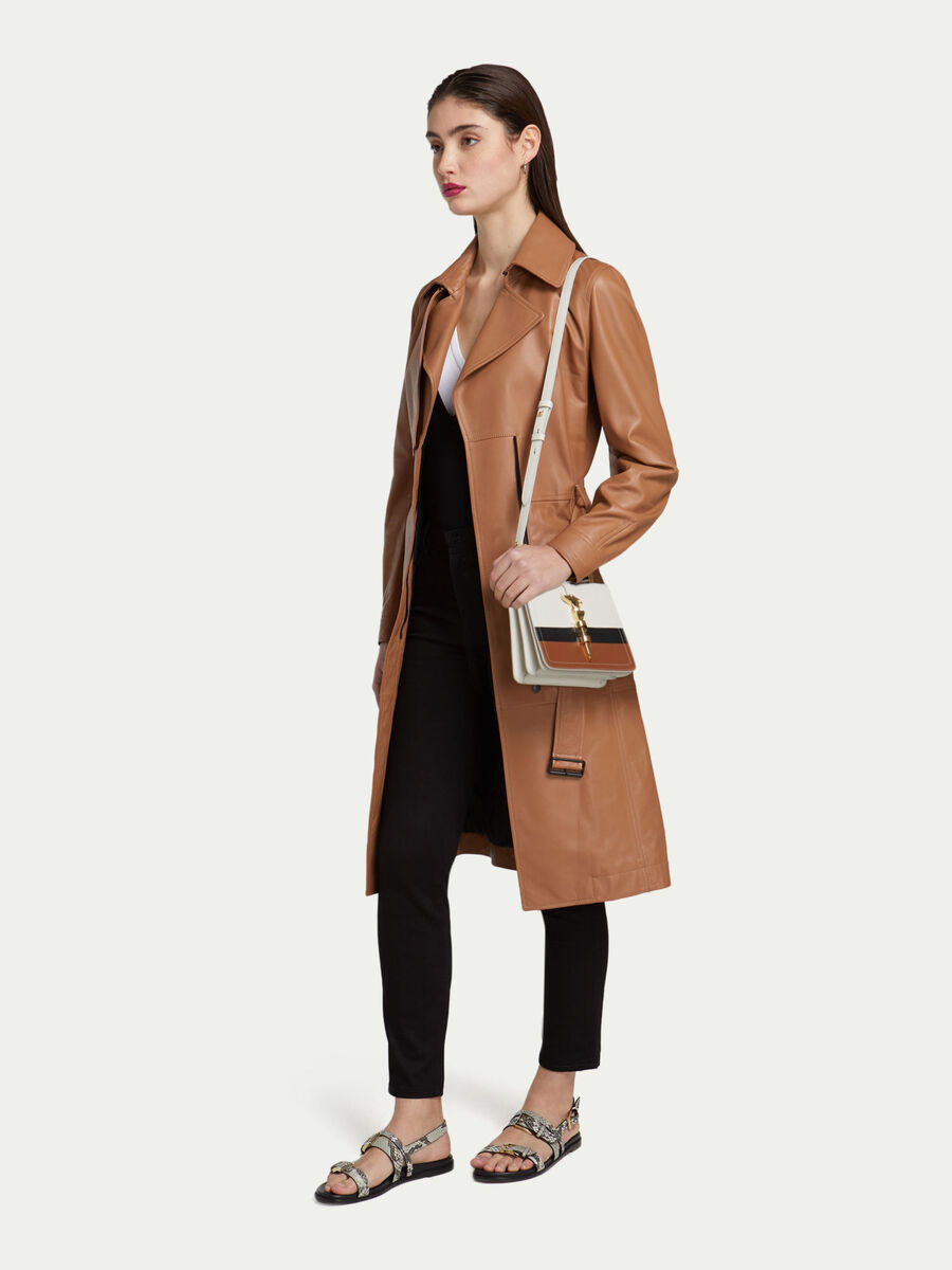 Small Cacciatora Nail shoulder bag joy colour leather