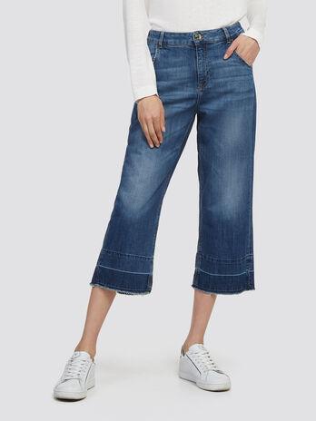 Stonewashed gaucho jeans