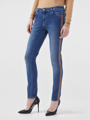 Vaqueros 260 de corte regular en denim roxy elastico