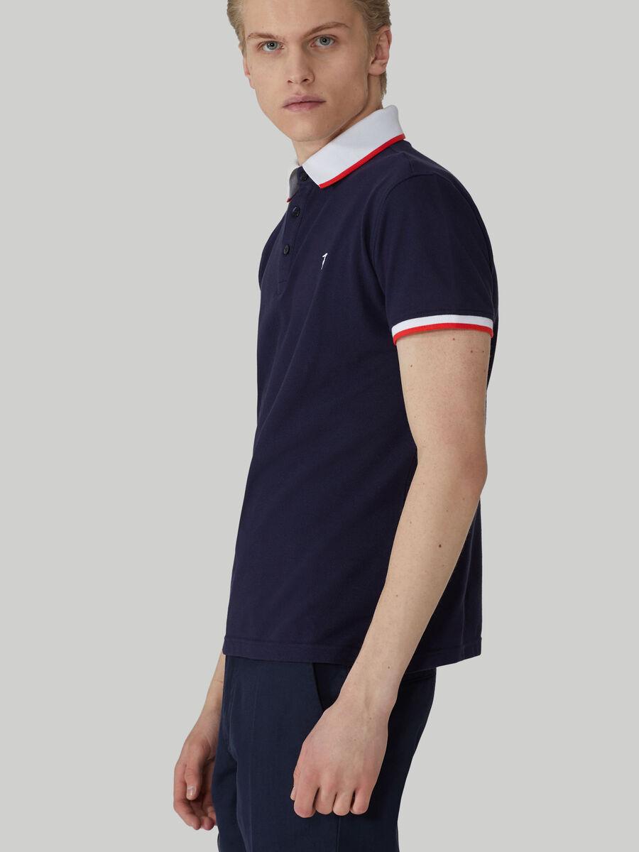 Regular-fit cotton pique polo-shirt