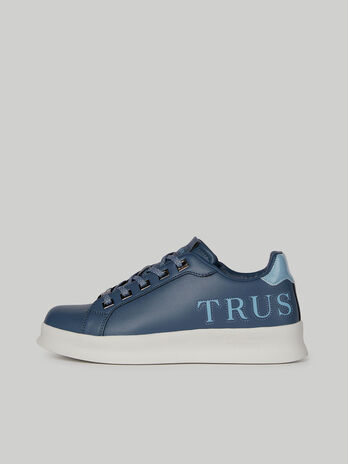 Leather Leilani sneakers with maxi-lettering