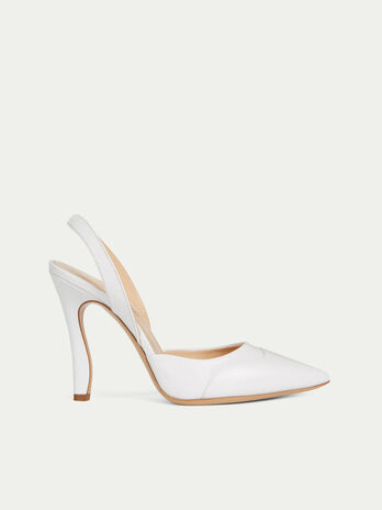 1107239f29c Solid colour leather slingbacks with a high heel