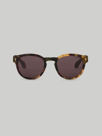 Runde Sonnenbrille aus Acetat in Schildpatt Optik