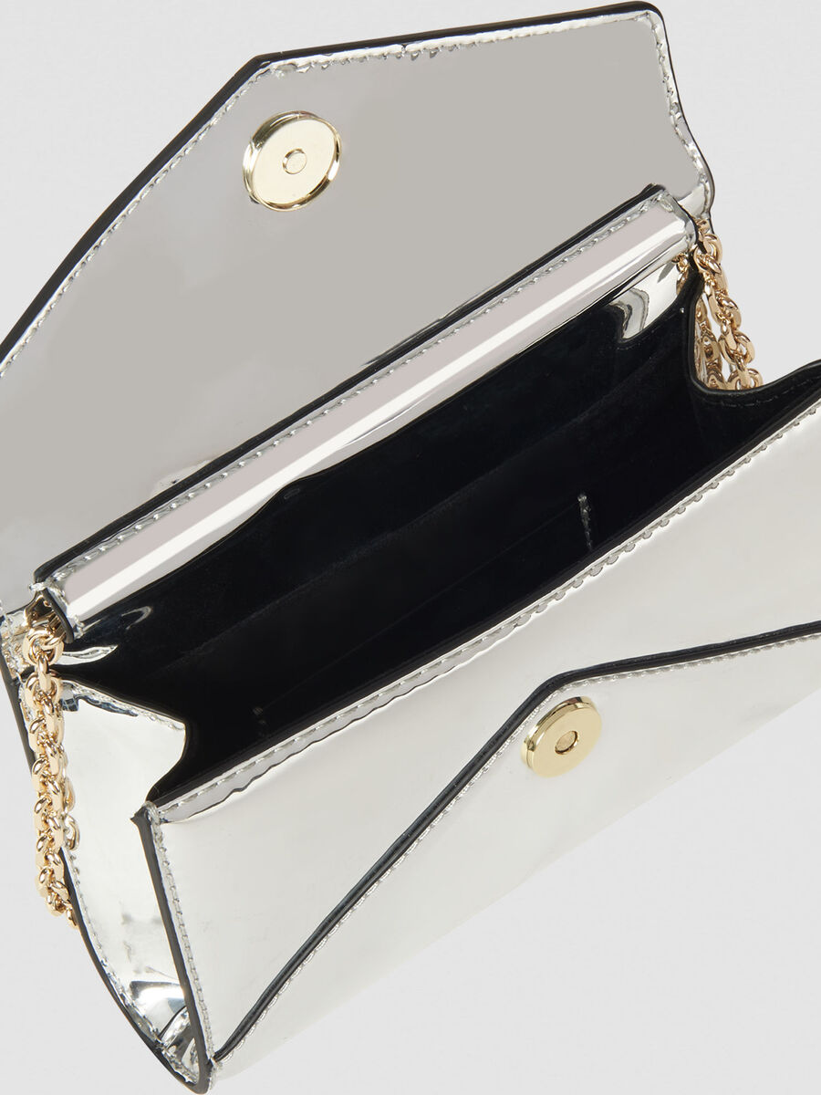 Clutch mirror small in similpelle