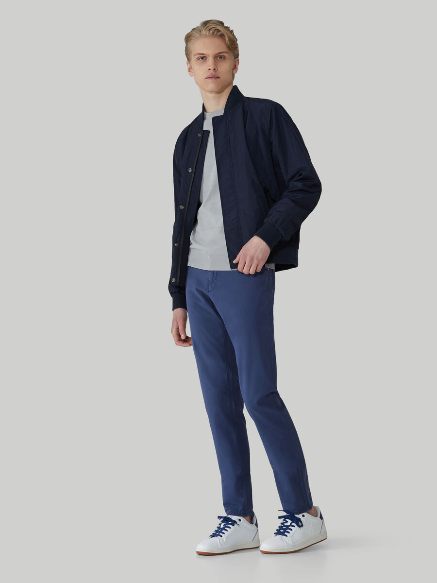 Bomber jacket in light technical fabric