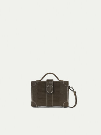 Box bag en cuir imprime lezard