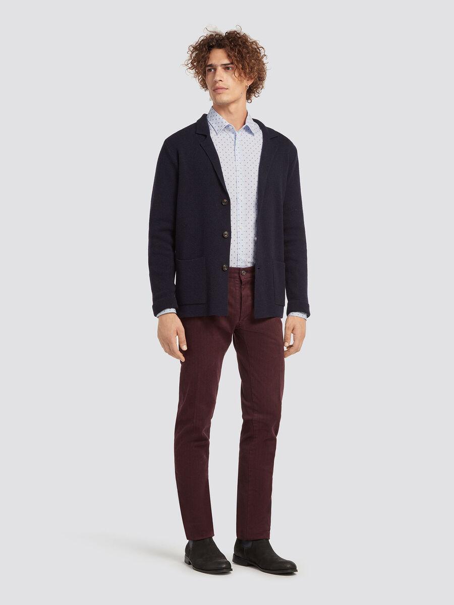 Regular fit wool blazer